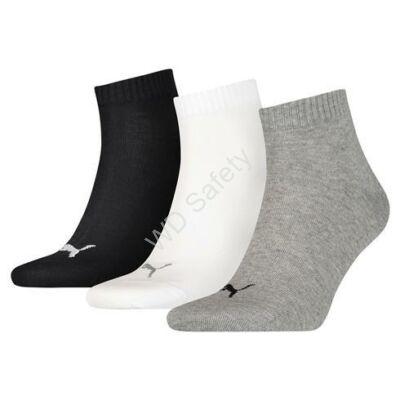 Puma unisex zokni - 3pár/csomag - szürke-fehér-fekete