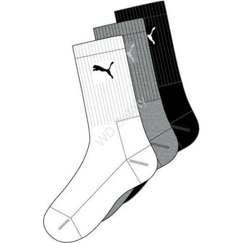 Puma Sport zokni - 3pár/csomag - fehér-szürke-fekete