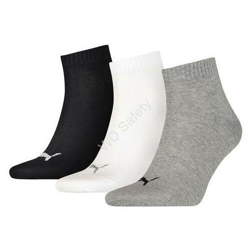 Puma sneaker zokni - 3pár/csomag - szürke-fehér-fekete