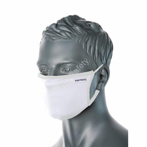 Portwest CV33 3 rétegű anti-mikorbiális arcmaszk, fehér