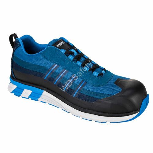 Portwest OlymFlex London S1P SRA Trainer munkavédelmi cipő, kék/fekete