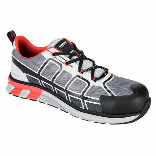 Portwest OlymFlex Barcelona S1P SRA munkavédelmi cipő, szürke/fekete