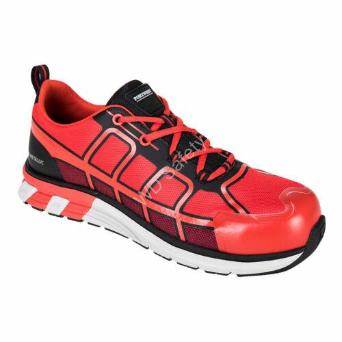 Portwest OlymFlex Barcelona S1P SRA munkavédelmi cipő, piros/fekete