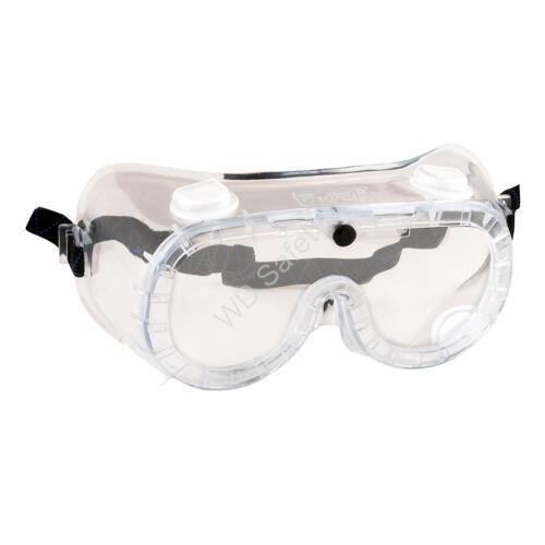 Portwest PW21 Gumipántos (indirekt ventilációs) védőszemüveg