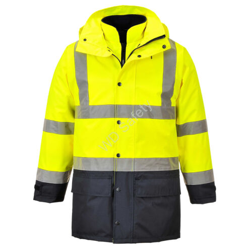 """Portwest S768 Jól láthatósági """"lélegző"""" 5az1-ben kabát"""